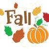 Seasonal Autumn/Fall Graphic. An Autumn/Fall themed seasonal graphic Stock Photo