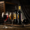 Red and white wine. Composition in mood lighting Stock Photo