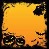 Halloween background. With two pumpkins Stock Photo