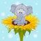 Stock Image : Сartoon Elephant