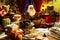 Stock Image : Święty Mikołaj relaksuje w domu