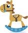 Stock Image :  Άλογο λικνίσματος
