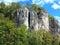 Stock Image :  Αναρρίχηση του τοπίου βράχου με τους ορειβάτες