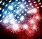 Stock Image :  Αφηρημένη απεικόνιση της αμερικανικής σημαίας