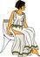 Stock Image :  γυναίκα αρχαίου Έλληνα