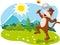 Stock Image :  Ευτυχείς θερινές διακοπές, φύση και διασκέδαση