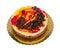 Stock Image :  Κέικ σοκολάτας με τα μπισκότα που απομονώνονται