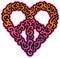 Stock Image :  Καρδιά ειρήνης Swirly
