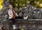 Stock Image :  Κορίτσι παιδιών στο πάρκο φθινοπώρου