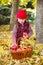 Stock Image :  κορίτσι φθινοπώρου λίγο &pi