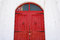 Stock Image :  κόκκινος ξύλινος πορτών