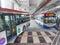 Stock Image :  Λεωφορείο δημόσιων συγκοινωνιών από το σταθμό Pasar Seni LRT