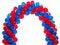 Stock Image : μπλε κόκκινο μπαλονιών αψίδων