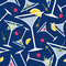 Stock Image :  Μπλε Martinis σχέδιο