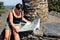Stock Image :  Να κάνει γυναικών που στο εθνικό πάρκο Cevennes