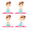 Stock Image :  να κάνει τη γιόγκα κοριτσ&iot