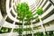 Stock Image : Πράσινος κήπος στο κτήριο υπαίθριων σταθμών αυτοκινήτων