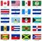 Stock Image : Σημαίες Αμερική αυτοκόλλητων ετικεττών