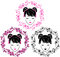 Stock Image :  Στεφάνι Sakura και ασιατικό πορτρέτο κοριτσιών
