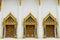 Stock Image :  Τρία παράθυρα του ναού του Βούδα Chaimongkol στην Ταϊλάνδη
