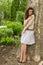 Stock Image :  όμορφη γυναίκα πάρκων