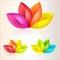 Stock Image :  абстрактный цветастый вектор иллюстрации цветков