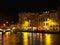 Stock Image : Байонна, октябрь 2013, берег реки на ноче, Франция Nive