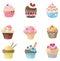 Stock Image : взгляд 9 пирожнй милый различный