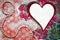 Stock Image : Винтажное белое сердце