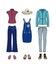 Stock Image : Вскользь одежды для женщин