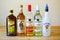 Stock Image :  Выбор рома на баре ликера