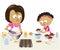 Stock Image : Выпечка матери и дочери