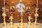 Stock Image : Горящие свечки в христианской церков