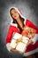 Stock Image : Женщина во времени рождества