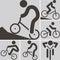 Stock Image :  Задействуя значок BMX