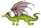 Stock Image : Зеленый дракон
