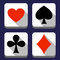 Stock Image : Значки играя карточки