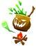 Stock Image :  Изверг тыквы хеллоуина в изолированной предпосылке