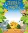 Stock Image : Граница партии джунглей