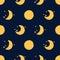 Stock Image :  Картина луны безшовная