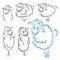Stock Image :  Комплект овец