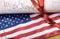 Stock Image : Конституция Соединенные Штатыы Америкии и флаг США
