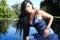 Stock Image : Красивая женщина