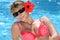 Stock Image :  Красивая сексуальная женщина в бикини на бассейне
