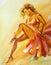 Stock Image :  Красивое danscer фламенко