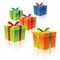 Stock Image : Красочные подарочные коробки картона