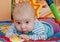 Stock Image :  Лежать маленького ребенка