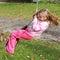 Stock Image : Маленькая девочка на качании