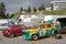 Stock Image :  Механики и старые французские автомобили