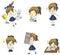 Stock Image :  Милый тайский студент школьницы в различной деятельности